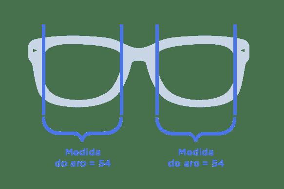 tamanho do óculos