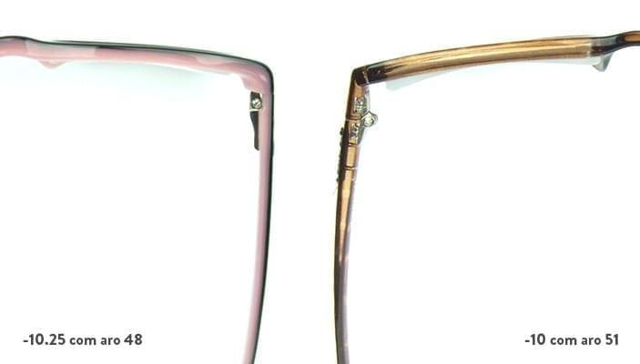 espessura do óculos