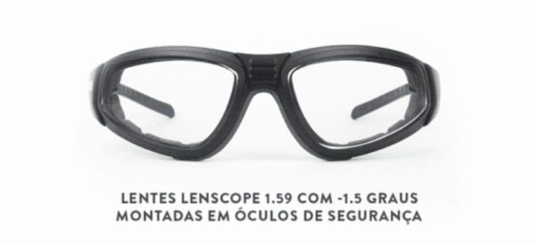 lente de policarbonato da Lenscope