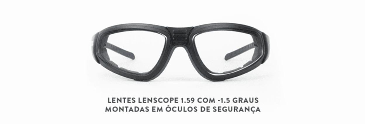 Lente de policarbonato da Lenscope  a lente mais resistente para óculos    Lenscope b931f0c3cd