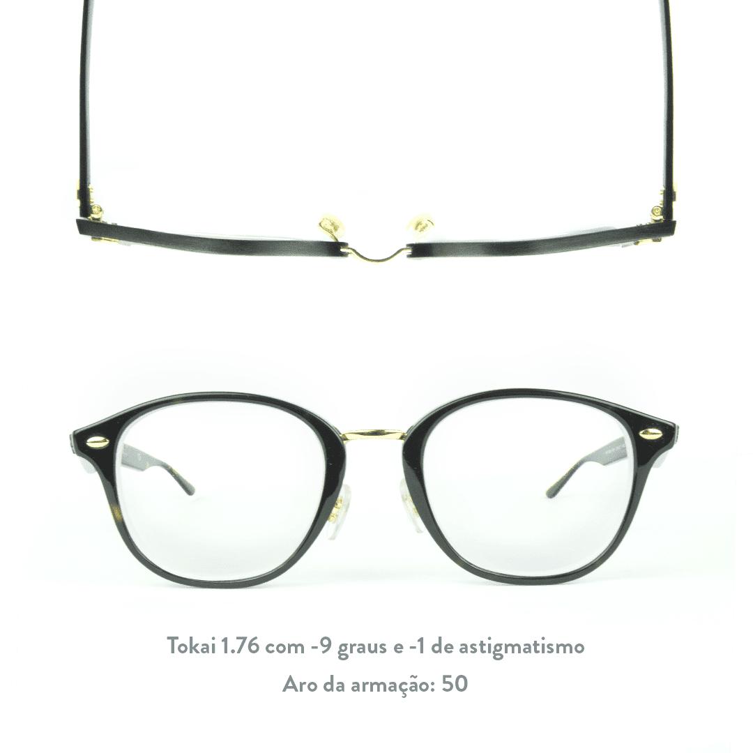 -9 graus e -1 grau de astigmatismo