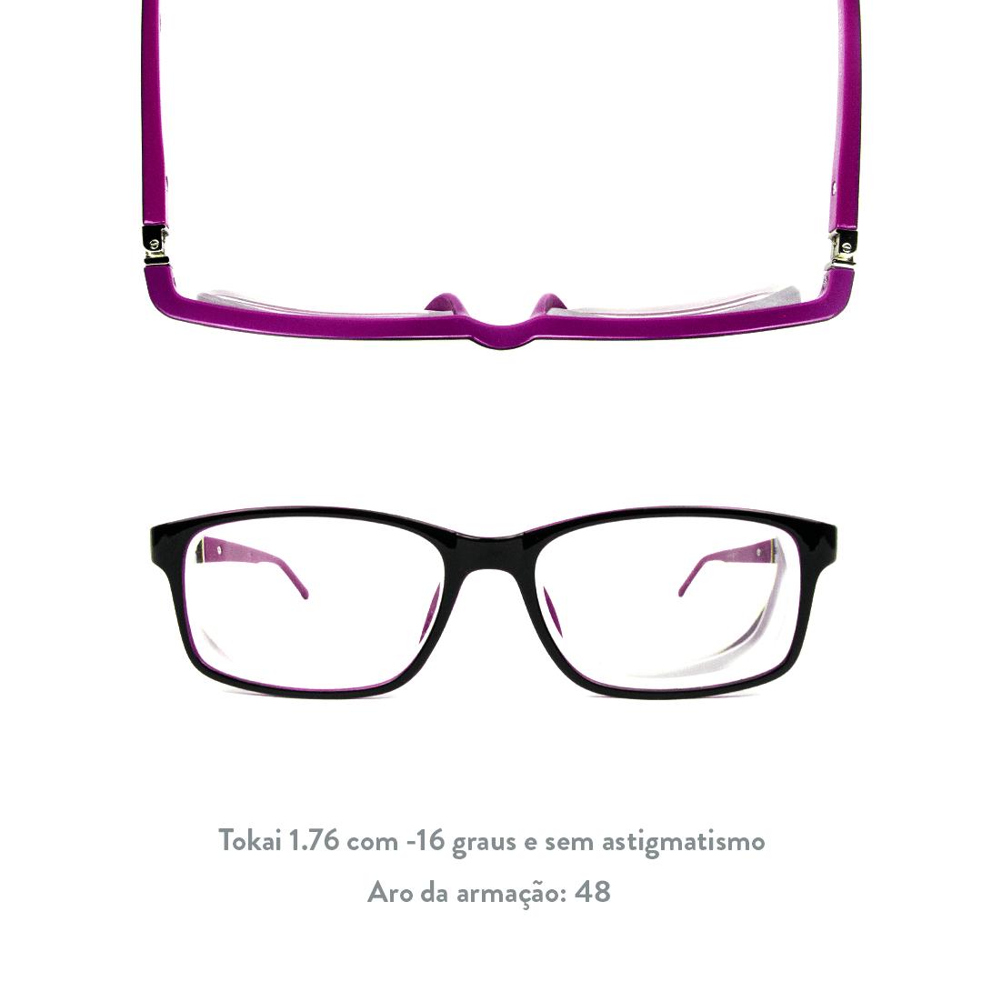 -16 de miopia e sem astigmatismo