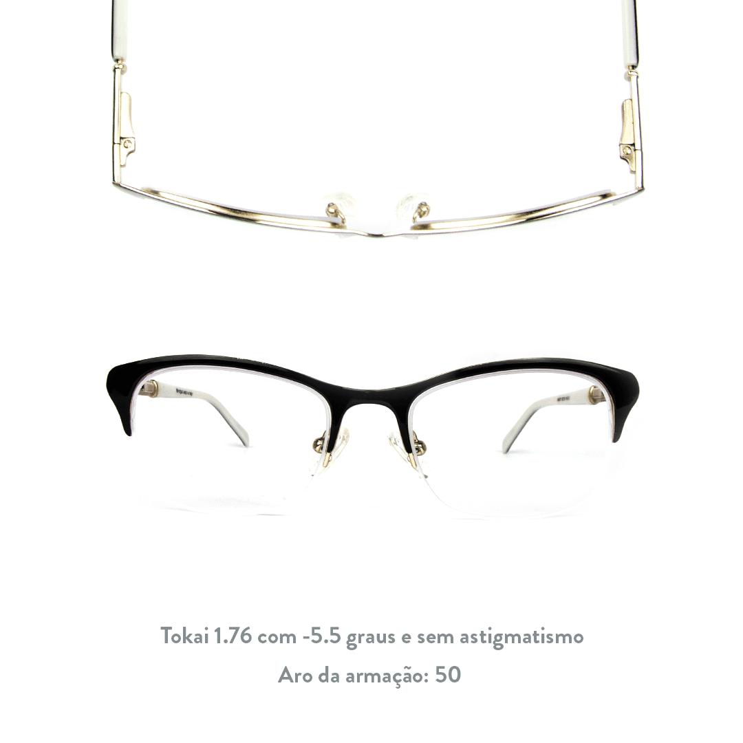 -5.5 de miopia e sem astigmatismo
