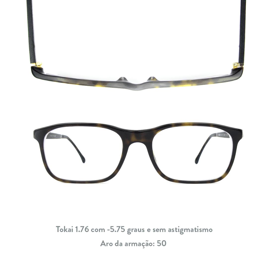-5.75 de miopia sem astigmatismo