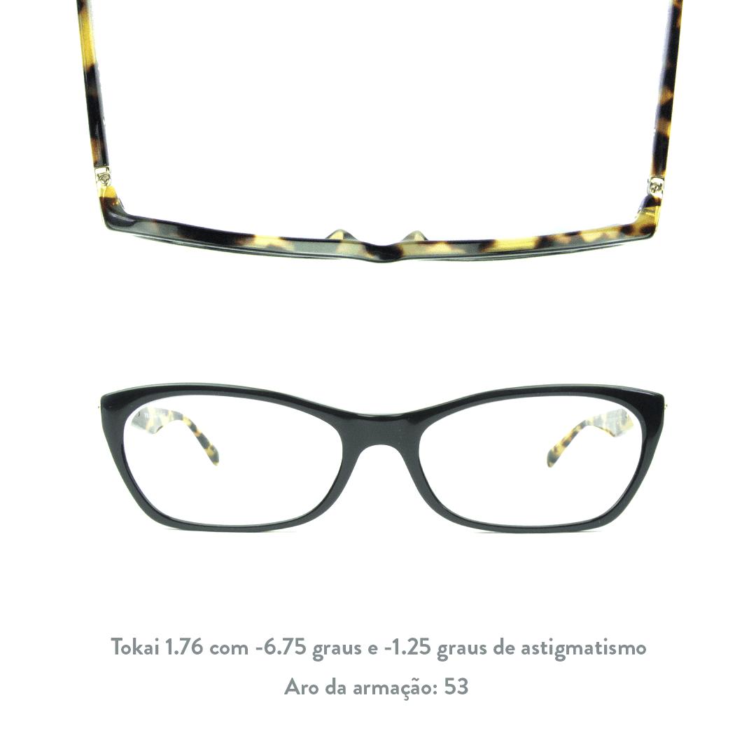 -6.75 de miopia e - 1.25 de astigmatismo