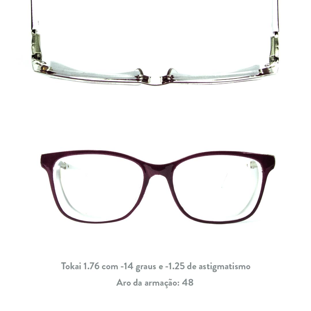 -14 de miopia e -1.25 de astigmatismo