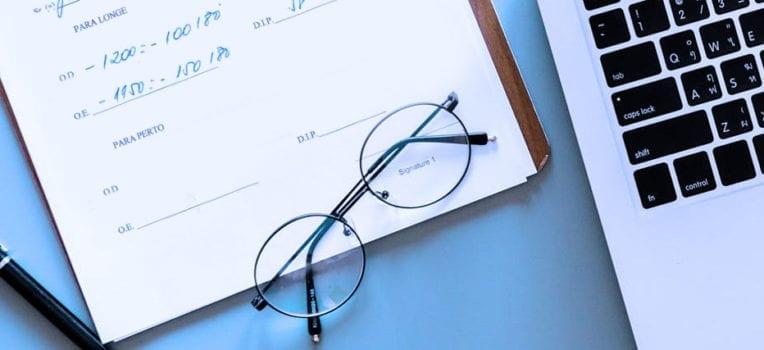 receita de óculos