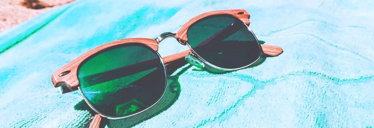 Lentes verdes para óculos de sol