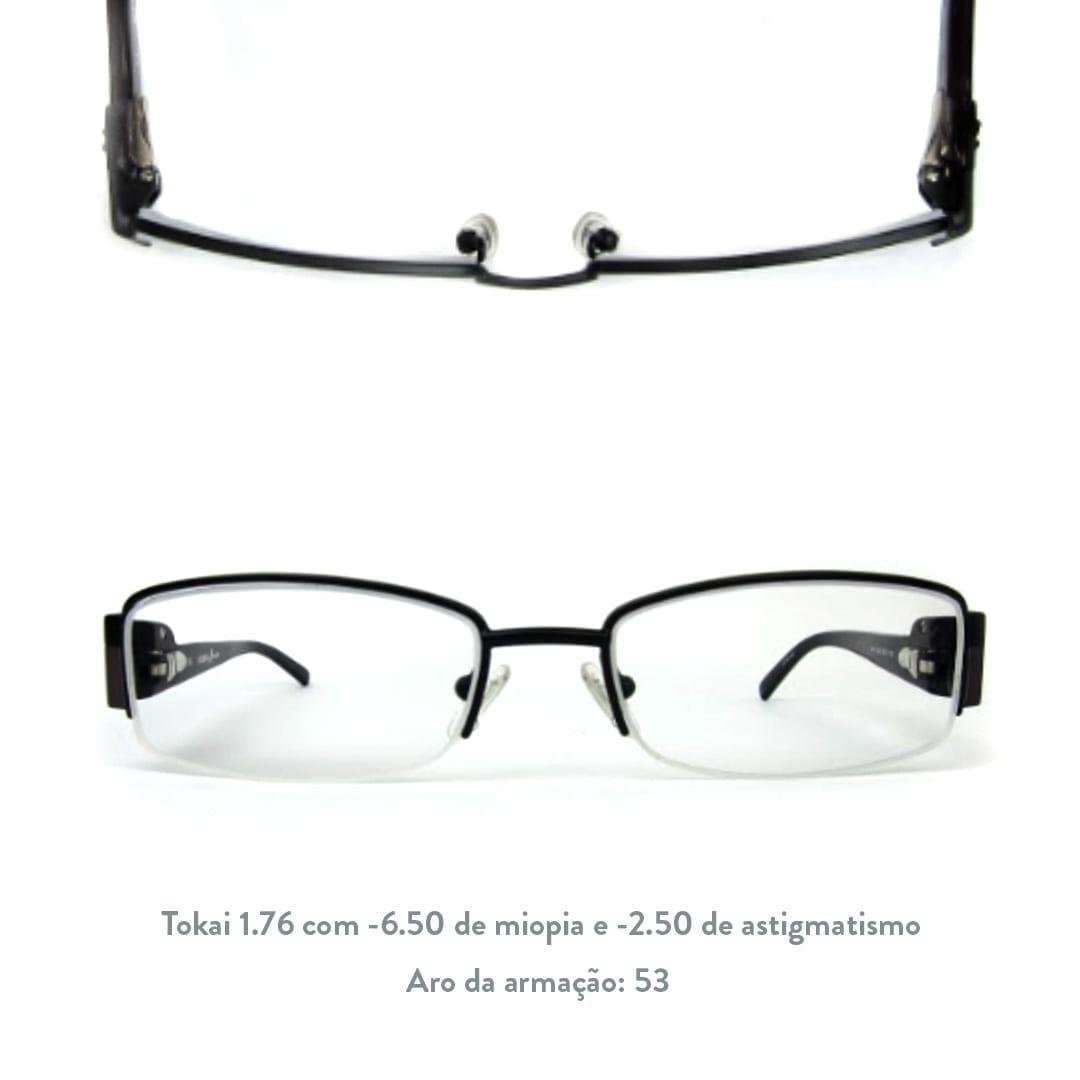 óculos com as Lentes Tokai 1.76
