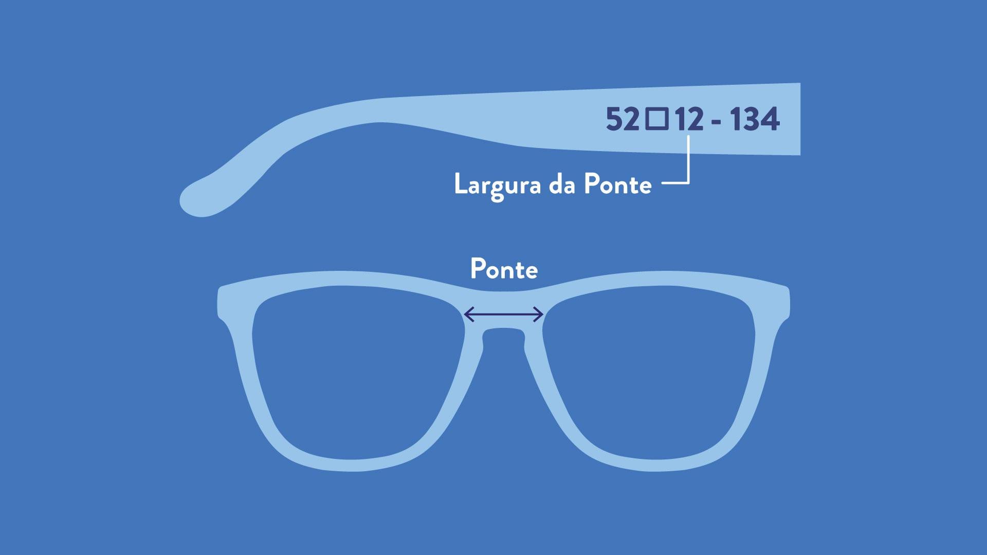 óculos tamanho p, m e g
