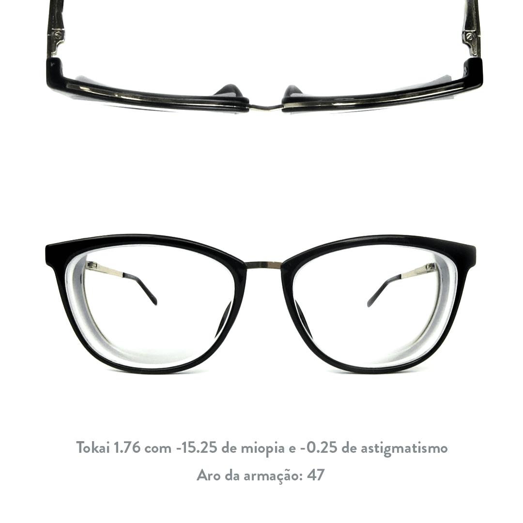 -15.25 de miopia e -0.25 de astigmatismo