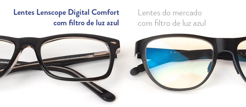óculos com filtro de luz azul