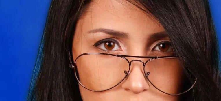 óculos falso
